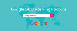 Complete seo factors list for ranking for Google search engine