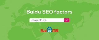 Complete seo factors list for ranking on main chinese search engine Baidu
